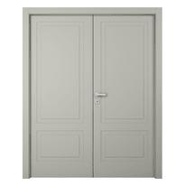 Porta da interno battente Nakano 2 Ante RAL 7044 160 x H 210 cm dx
