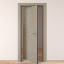 Porta da interno rototraslante The Thing grigio 70 x H 210 cm sx