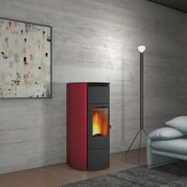 Termostufa a Pellet Superior Tanya TH 15,6 kW bordeaux
