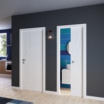 Porta da interno scorrevole Dna Laccato Bianco 70 x H 210 cm reversibile