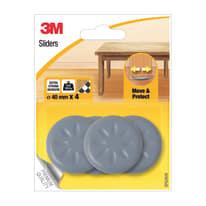4 pattini adesivi L 24 x H 24 mm