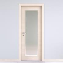 Porta da interno battente Lucad vetro graf matrix 60 x H 210 cm reversibile