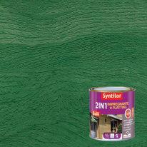 Impregnante e flatting 2 in 1 ad acqua 8 anni Syntilor verde brillante 0,5 L