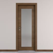 Porta da interno battente Stenophylla vetro cacao 80 x H 210 cm reversibile