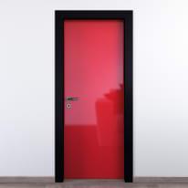 Porta da interno battente Dalì rosso lucido 60 x H 210 cm dx