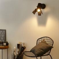 Applique Studio nero L 26 x H 15 cm