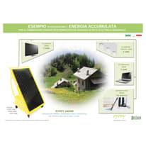 Impianto fotovoltaico portatile Pyppy fai da te 1200 blu 160 kW