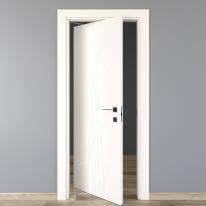 Porta da interno rototraslante Blades white bianco 80 x H 210 cm sx