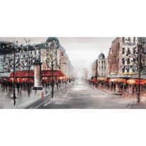 dipinto su tela Boulevard Parigi 60x120