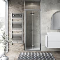 Porta doccia Record 97-101, H 195 cm vetro temperato 6 mm trasparente/silver lucido