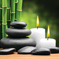 quadro su tela Zen candle 98x98