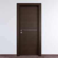 Porta da interno battente Wright Fumo 60 x H 210 cm dx