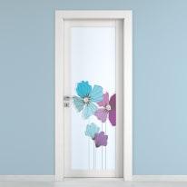 Porta da interno battente Eden larice bianco 70 x H 210 cm dx