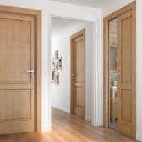 Porta da interno battente Bernini rovere miele 80 x H 210 cm sx