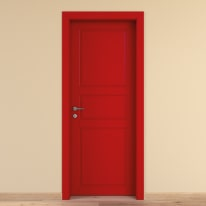 Porta da interno battente New York rosso 60 x H 210 cm dx