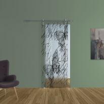 Porta da interno scorrevole Butterfly/binario Lux 88 x H 215 cm sx