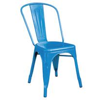 Sedia impilabile Industrial blu