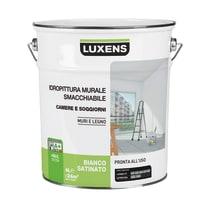 Idropittura superlavabile bianca Luxens 4 L
