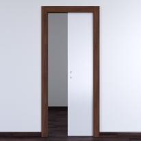 Porta da interno scorrevole One bianca/brown 70 x H 210 cm reversibile