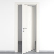 Porta da interno rototraslante Wood bianco 80 x H 210 cm dx