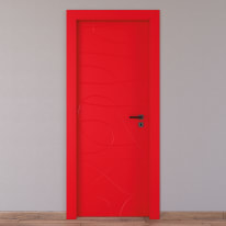Porta da interno battente Wind red rosso 70 x H 210 cm sx