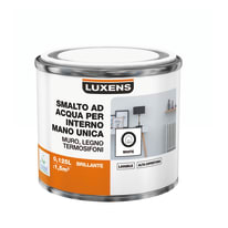 Smalto manounica Luxens all'acqua Bianco brillante 0.125 L