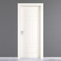 Porta da interno battente Coconut Groove bianco 60 x H 210 cm dx