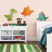 Sticker Foam kids M 3D 3 dinosaurs