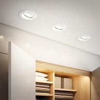 Kit 3 faretti ad incasso Clane bianco orientabile rotondo Ø 8 cm 3x50 W luce naturale