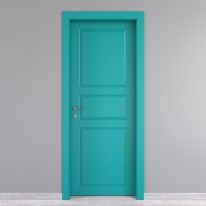 Porta da interno battente New York azzurro 70 x H 210 cm dx
