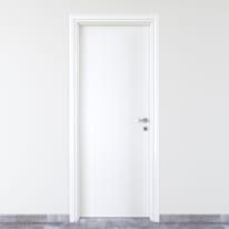 Porta da interno battente Pvc white bianco 80 x H 210 cm sx