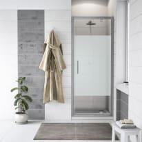 Porta doccia battente Quad 67.5-69, H 190 cm cristallo 6 mm serigrafato/silver