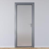 Porta per ufficio battente Office vetro temperato bianco satinato 70 x H 210 cm sx