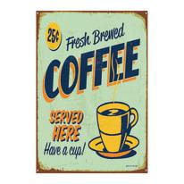 quadro su tela Coffee blu 24x35