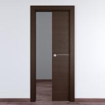 Porta da interno scorrevole Wright Fumo 80 x H 210 cm reversibile