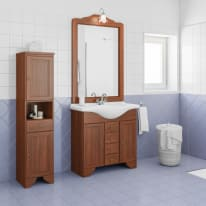 Mobile bagno Laura marrone L 83 cm