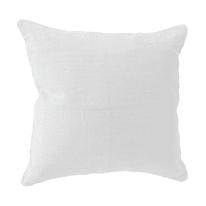 Cuscino grande 100% lino bianco 60 x 60 cm