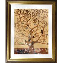 Quadro in vetro con cornice Klimt albero 45,5x55,5