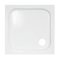 Piatto doccia ceramica quadro 65 x 65 cm bianco prezzi e for Piatto doccia 70x100 leroy merlin