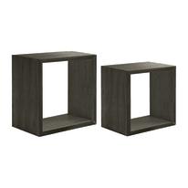 Set 2 cubi Spaceo rovere scuro, sp 2,2 cm