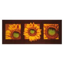Tappetino cucina antiscivolo Girasole marrone 57 x 190 cm