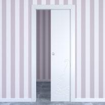 Porta da interno scorrevole Dwarf white bianco 60 x H 210 cm reversibile