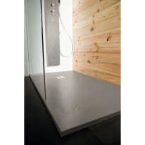 Piatto doccia resina Pizarra 100 x 130 cm cemento
