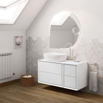 Mobile bagno Devon bianco L 105 cm