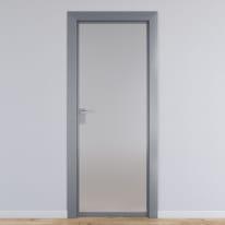 Porta per ufficio battente Office vetro temperato bianco satinato 70 x H 210 cm dx