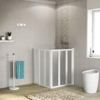 Box doccia Los 76-80 x 76-80, H 100 cm acrilico 2 mm stampato/bianco lucido