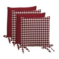 Set 4  coprisedia Quadri rosso 40 x 40 cm