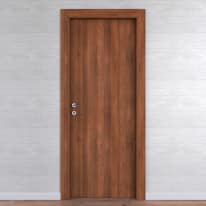 Porta da interno battente One walnut noce 70 x H 210 cm reversibile