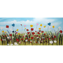 dipinto su tela Campo fiori 80x180