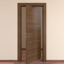 Porta da interno rototraslante Tussauds Cacao 80 x H 210 cm dx